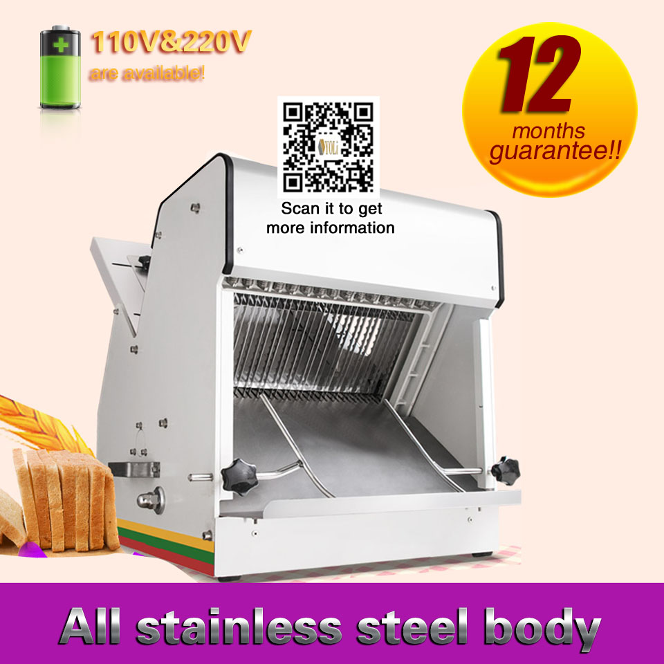Electric Bread Cutting Machine Commercial Toast  And Ham Slicer  110v Or 220v