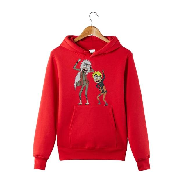 Rick and Morty Naruto Hoodie Anime Manga Sweatershirt Pickle Rick Naruto and Jiraiya Funny Hoodie Sweatershirt 3