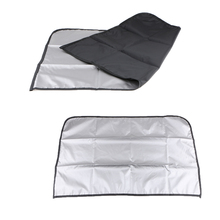 1 Pair Magnetic Sunshade Shield Curtains Double Sides Summer Sunshield For Car Side Windows