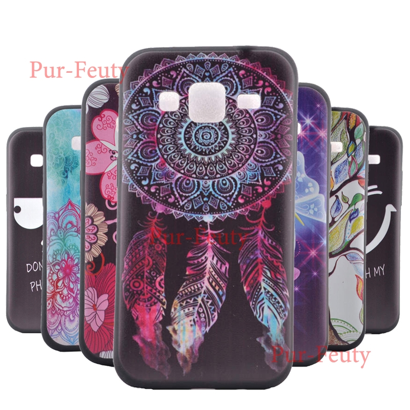 Izyeky Case For Samsung Galaxy Core Prime G360h G361h Sm-g360h Sm-g361h G360 G361 Moon Space Animal Bear Cat Cover Half-wrapped Case
