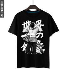 Fashion Men's Anime Print T-Shirt One Piece Sauron 5 Colors 100% Cotton Short Sleeve Male Fitness Tops O-Neck Camiseta S-3XL