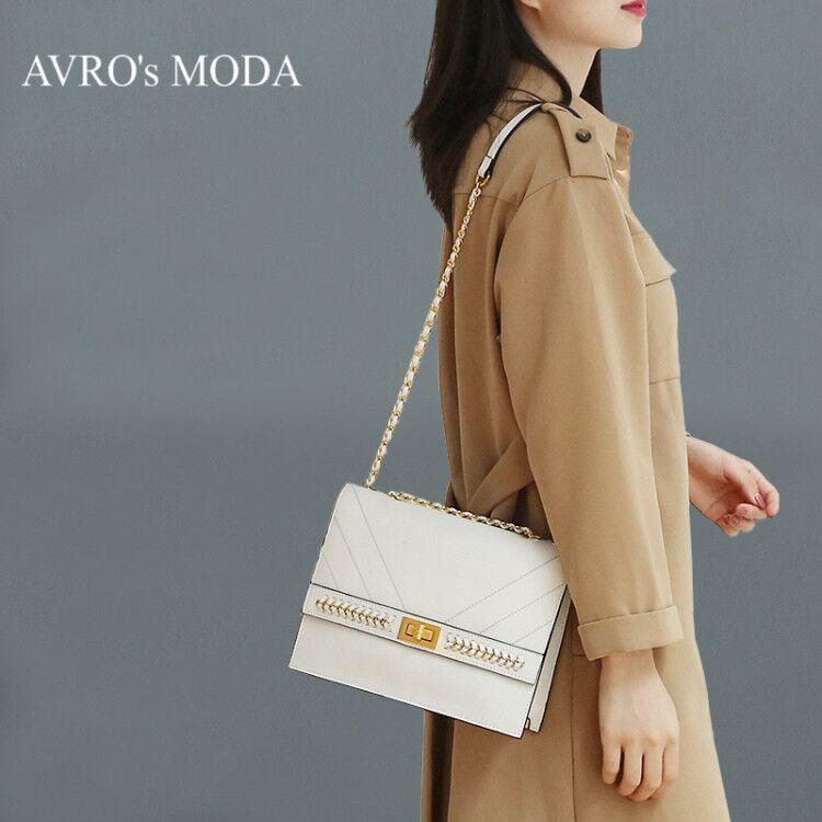 AVRO s MODA Luxury brand design genuine leather shoulder bags for women 2019 female retro crossbody
