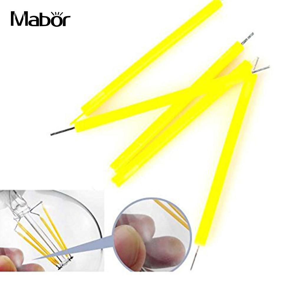 5/50pcs Candle Light Source Super Bright LED Lighting Filament Bulb Yellow COB Household 130LM Indoor Outdoor DIY Accessaries
