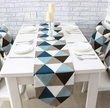Triángulo lienzo Gemoetric casa rústica decoración de mesa 4 tamaño para elegir