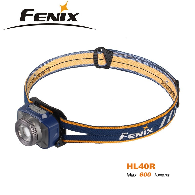 2018 NEW Fenix HL40R Headlamp rechargeable focusing headlamp Micro USB port fitted with a built-in 2000mAh battery фонарь fenix hl40r grey