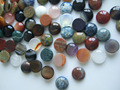 10pcs 12MM Natural Stone Round Mixed Red white Blue Colorful Cabochon Dome Flat Back Many size for Tray Pendant Cover
