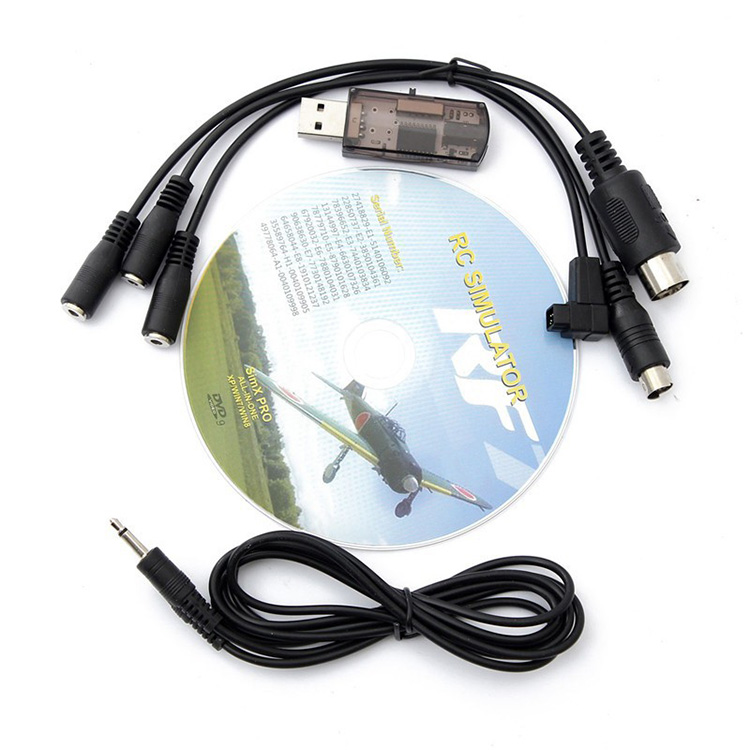 22 in 1 22in1 RC USB Flight Simulator Cable for Realflight G7 / G6 G5.5 G5 Phoenix 5.0 Flysky FS-I6 FS-TH9X FS-T6 FS-CT6B ...
