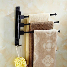 Suction Cup Rotating Bathroom Movable Towel Rack Bars Rotary Storage Hanging Racks Wall Mounted Towel Holder Hanger