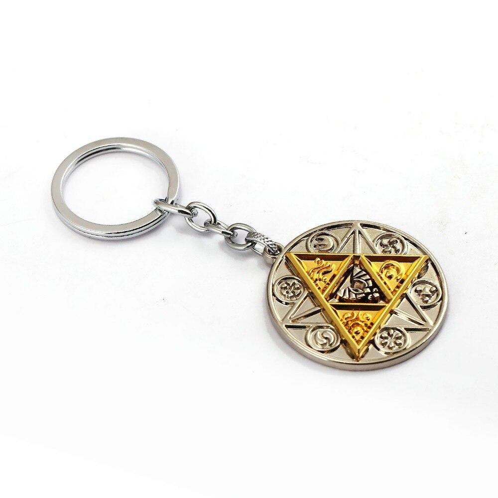 Legend of Zelda Keychain Matrix Model Game Breath of the Wild Key Ring Zelda Key Chains Men Jewelry