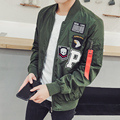 Eagle Embroidery Patched New York Mens Bomber Jacket 2017 New Fashion Spring Autumn  mens jackets and coats Army Green