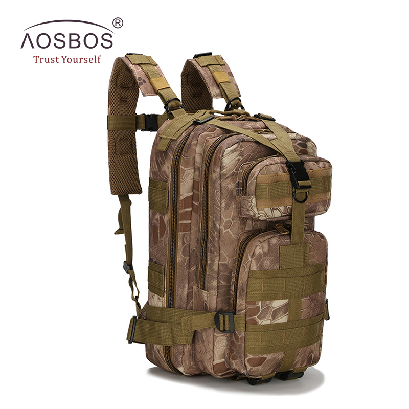 Herr Militär Taktisk Ryggsäck Vandring Vattentät Rese Sport Utomhus Väskor Multifunktionella Svart Ryggsäckar Camping Army Bag