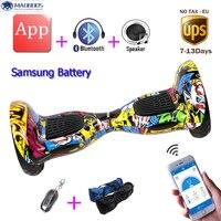 Bluetooch Remote Bag 10 Inch 2 Wheels Self Balance Electric Skatebaord Smart Electric Hoverboard Hover Baord