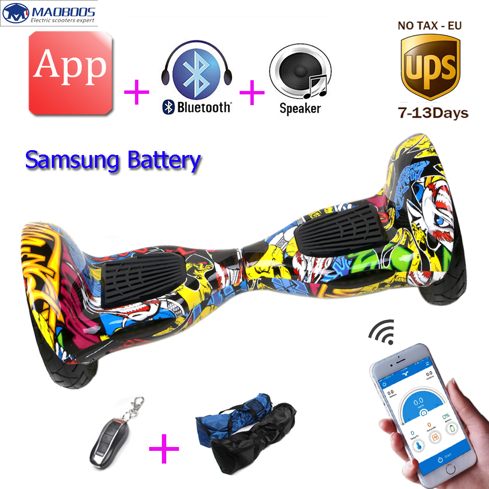 10 APP Electric Scooter Hoverboard Samsung battery Self Balancing Scooter Smart Balance Wheel Electric Skateboard hover board iscooter 10inch hoverbaord samsung battery electric self balancing scooter for adult kids skateboard 10 wheels 700w hoverboard