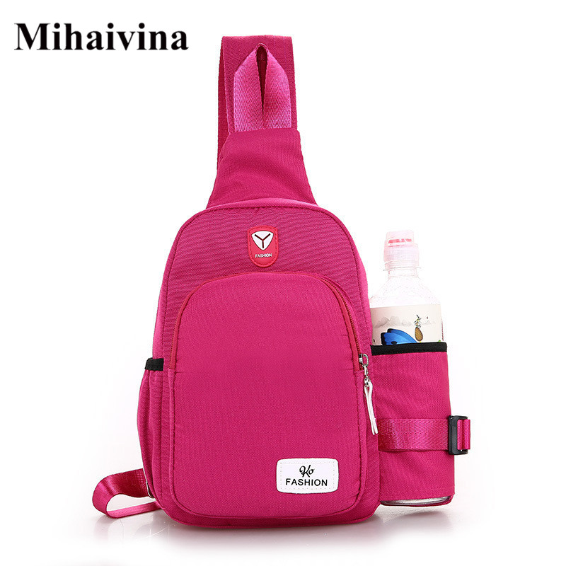 Mihaivina Women Chest Bags Fashion Oxford Belt Bag Casual Travel Shoulder Crossbody Bag Female Zipper Phone Wallet Waist Packs