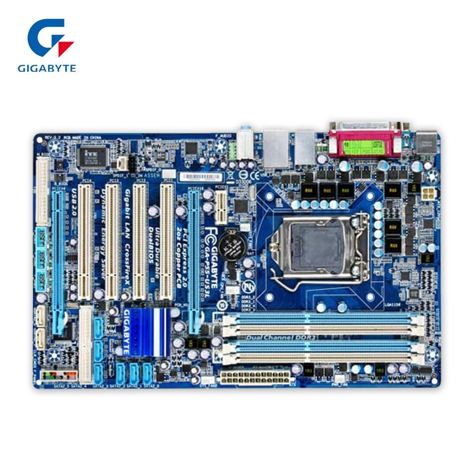 где купить  Gigabyte GA-P55-US3L Original Used Desktop Motherboard P55-US3L H55 LGA 1156 i5 i7 DDR3 16G ATX  дешево