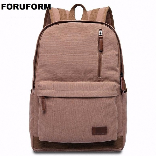 202056a75 Canvas Backpack College Student School Backpack Bags 14 Inch Laptop Backpack  And 1-3 Days Trip Backpack LI-1938