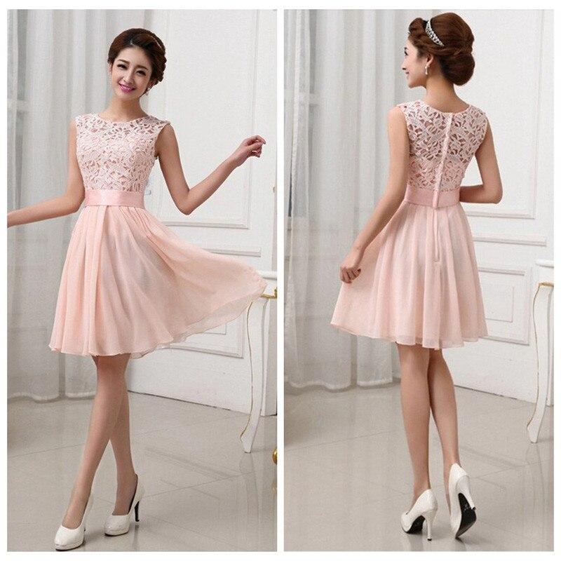 69e4c111ae Krótkie Mini sukienka Sexy kobiety koronki bez rękawów elegancki sukienka  spotkanie towarzyskie szyfonowa plisowane stałe