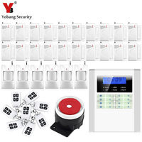 Wireless PSTN GSM Alarm System 433MHz Home Security Alarm System Door Detector PIR Alarm Sensor