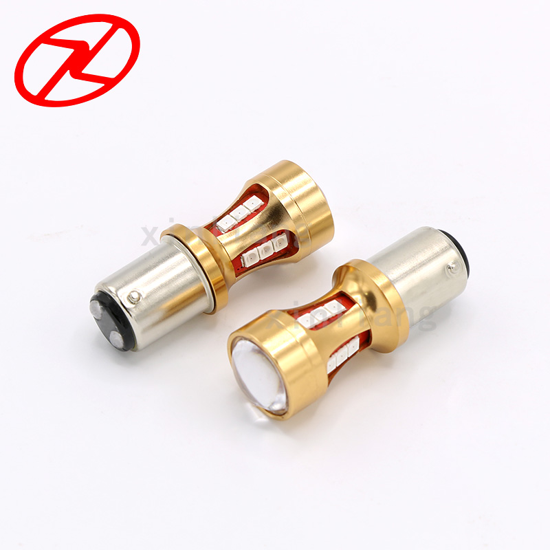 2pcs 1157 BAY15D LED Light 3030  18SMD Backup Reverse Strobe Warning Lamp Red Auto Rear Tail Lamp Bulb Turn Signals Light 12V