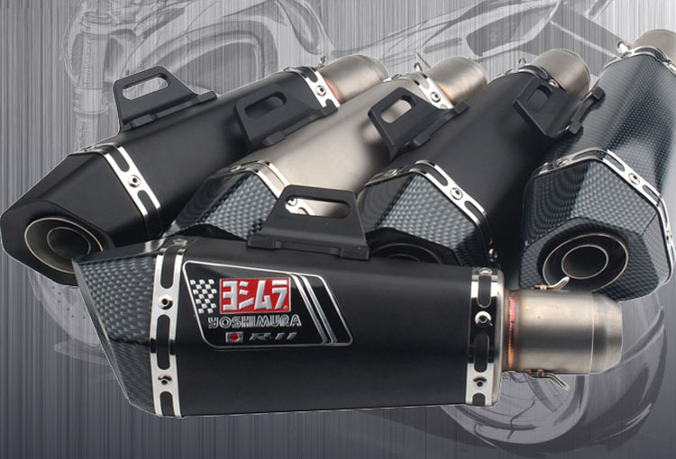 HOT SELL Motorcycle Yoshimura Exhaust Muffler Pipe Echappement Motor For Kawasaki Yamaha Honda KTM z800 z1000 ninja250 R6 promotion 6pcs crib bedding piece set baby bed around free shipping hot sale unpick 3bumpers matress pillow duvet