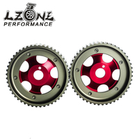 LZONE (1Pair)FOR Toyota 1JZ 2JZ DOHC Engine Adjustable Aluminum Pulley Cam Gear Red JR6531R