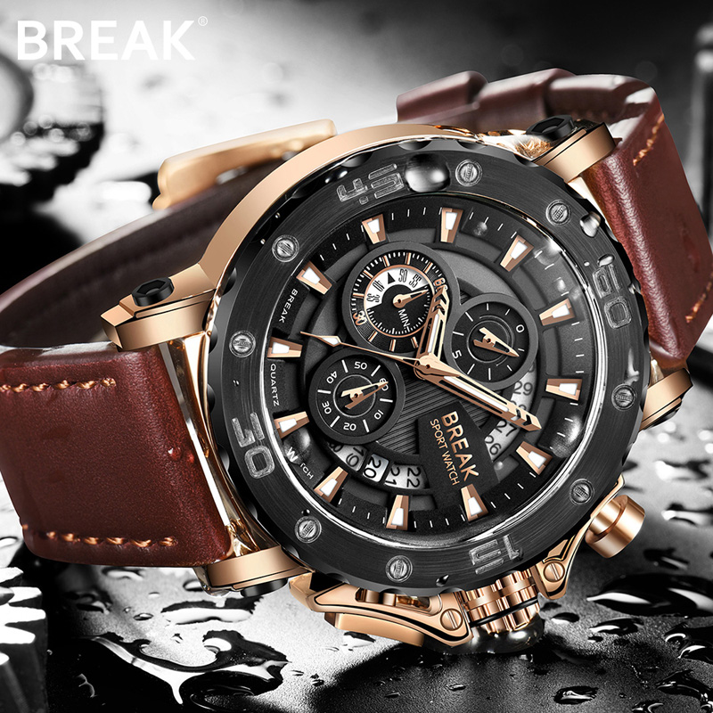 BREAK Men Watch Quartz Wrist Watches
