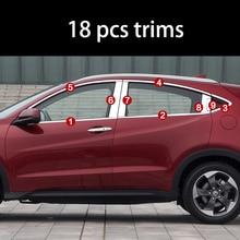 lsrtw2017 304 stainless steel car window trims for honda hrv honda vezel 2015 2016 2017 2018 lsrtw2017 car styling car window rainshield door visor for honda odyssey 2015 2016 2017 2018 window trims