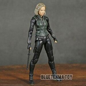Image 1 - Marvel Avengers Infinity War Black Widow Shf Pvc Action Figure Collectible Model Kinderen Speelgoed Pop