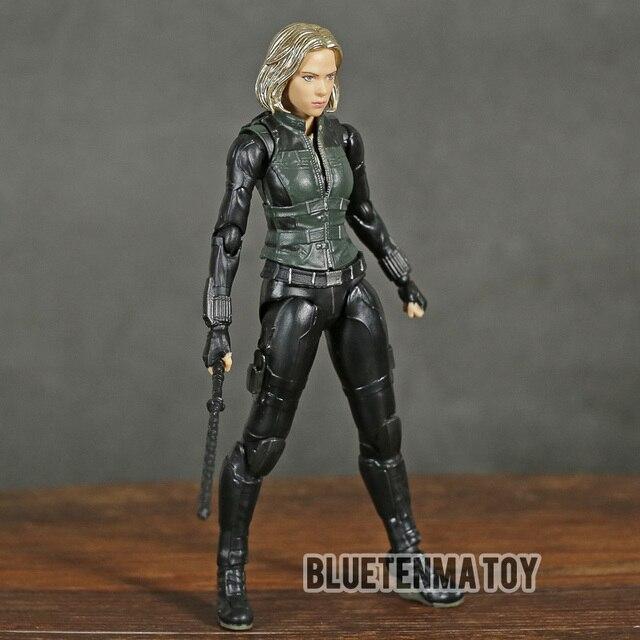 Marvel Avengers Infinity War Black Widow Shf Pvc Action Figure Collectible Model Kinderen Speelgoed Pop