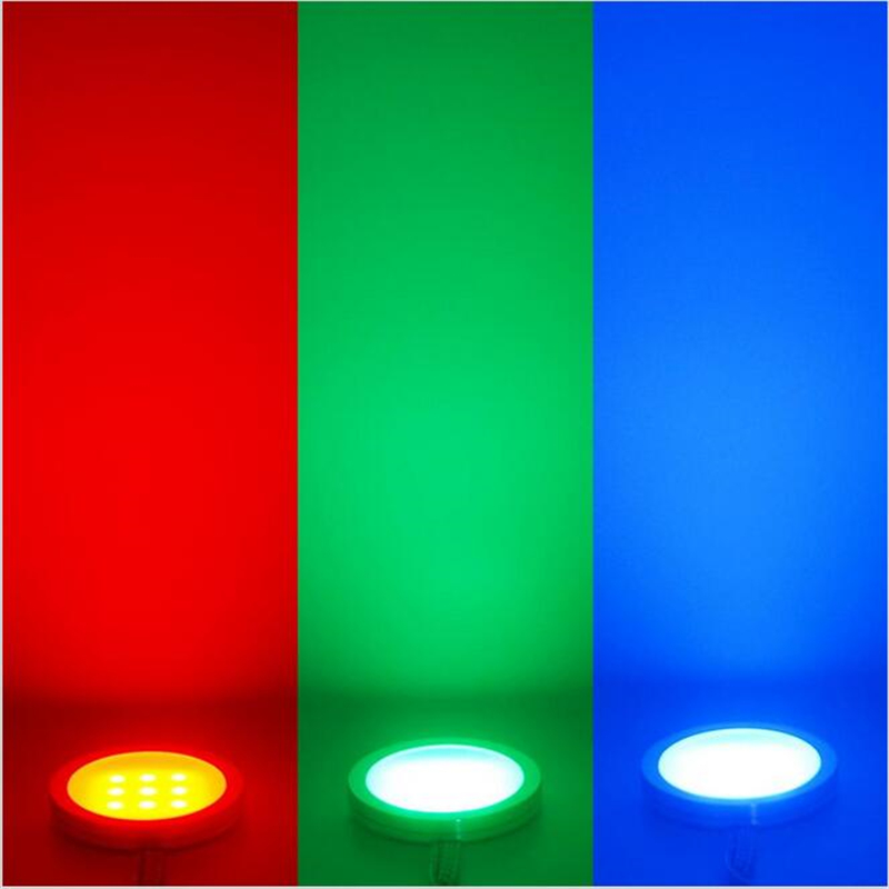 6 RGB Color Changing LED Under Cabinet Puck Lights Kit RF Remote Dimmable  For Home Kitchen Counter Furniture Decoration Lighting In LED Bulbs U0026 Tubes  From ...