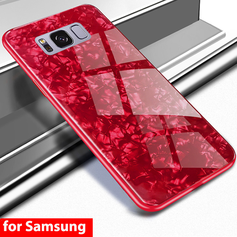 2018 Fashion Hard Tempered Glass Back Case For Samsung Galaxy S8 S9 Plus Note 8 Note9 Glass Case For Samsung Note 9 S8+ S9+ Case Fashionable(In) Style;
