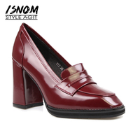 New Arrival Retro Leisure Pumps Commuting Shopping Women S High Heel Shoes Slip On Natural Leather