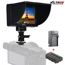 """Viltrox DC-50 Portable 5"""" Clip-on LCD HDMI HD Video Camera Monitor &Battery&Charger for Canon Nikon Sony DSLR BMPCC"""