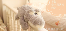 small cartoon plush cartoon crocodile toy stuffed gray crocodile doll gift about 60cm