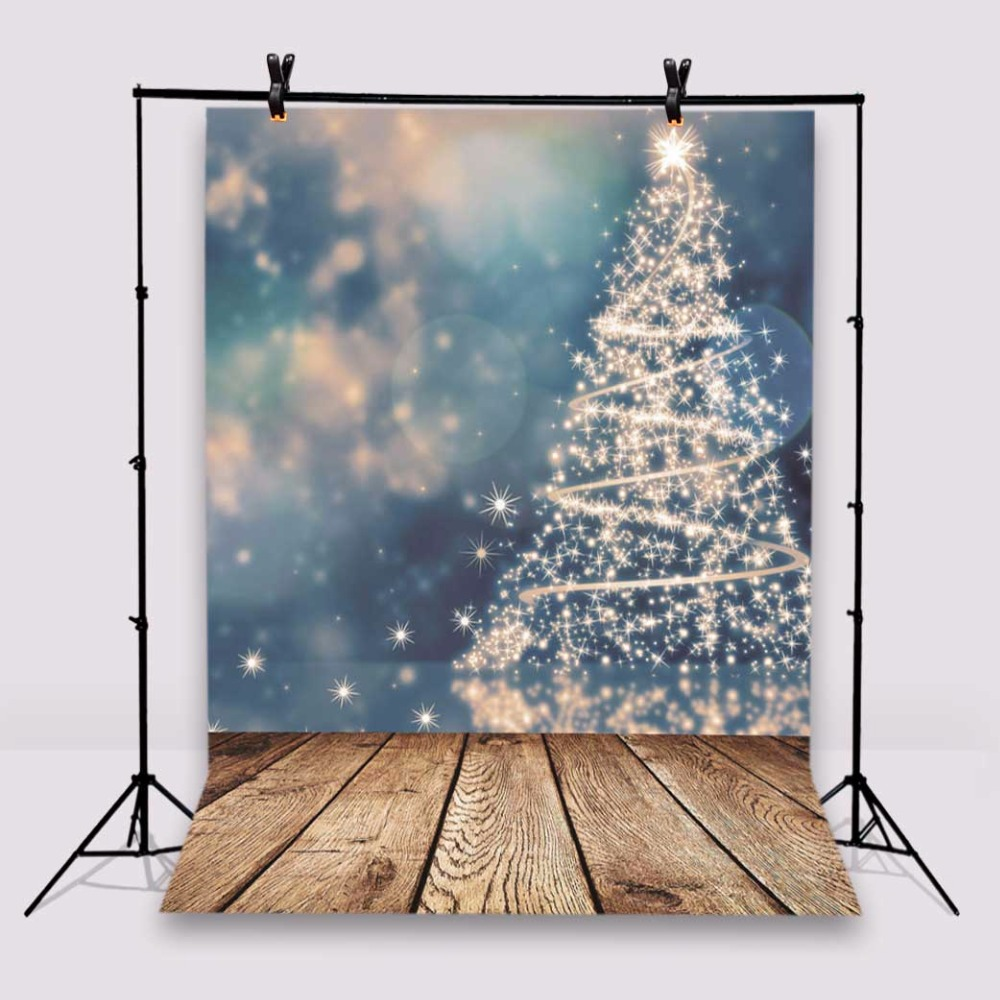 KIDNIU Photography Background Christmas Trees Photo Studio Props Wooden Floor Baby Backdrops Vinyl 5x7ft or 3x5ft Jiesdx080 vinyl floral flower newborn backdrops cartoon unicorn photography background studio photo props 5x3ft