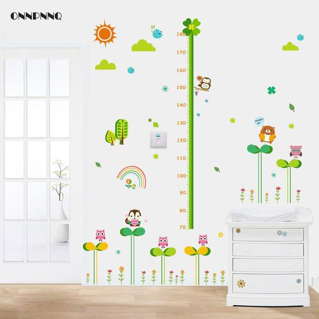 Creative Grass Owl Measuring Height Sticker Wall Stickers For Kids Rooms  Environmental Protection Childrenu0027s Room Decoration Part 80