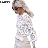 Fashion Autumn Long Sleeve Tops Womens Clothing Casual Tee Shirts Blouse Shirt Hollow Out Open Shoulder
