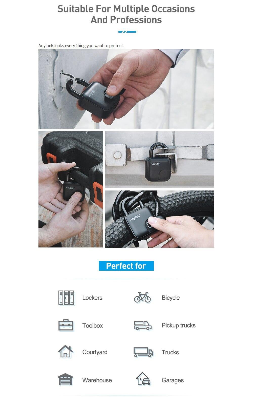 Cadeado de impressão digital Do Bluetooth inteligente