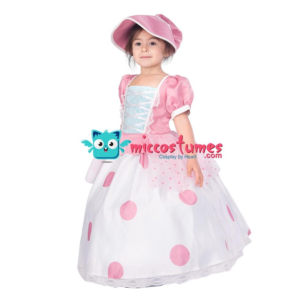 Kids Little Bo Peep Cosplay Dress Costume