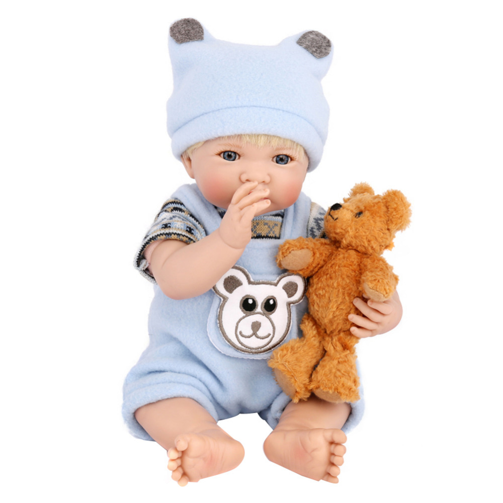 Simulation Kids Realistic Reborn Baby Doll Soft Lifelike toddler Baby Toys for Boys Girls Birthday Gift babies Accompanying Toy cute baby swing car walker without foot pedal scooters toddler stroller kids toy birthday gift