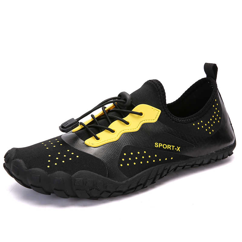 f3285a3182a Outdoor Water Sneaker Five Fingers Shoes Men Slippers for Swimming  Breathable Aqua Shoe Creek Beach Camping
