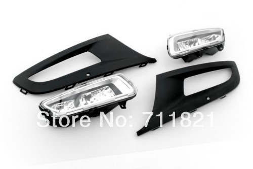 Front Fog Light Kit For VW Polo 6R free shipping new pair halogen front fog lamp fog light for vw t5 polo crafter transporter campmob 7h0941699b 7h0941700b