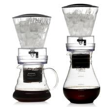 YRP Water Drip Coffee Machine New Reusable Filter Tools Glass Espresso Coffee Dripper Pot Ice Cold Brew Coffee Maker BDH-04 цена 2017