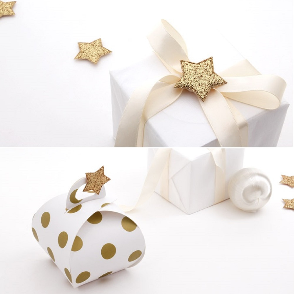 10set gold lucky star Packaging Decoration Tags Wedding Favors Gifts ...