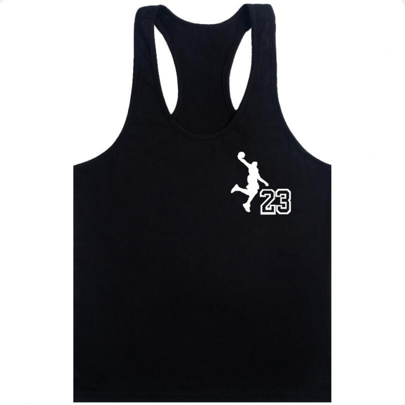 NEW YORK Jordan 23 Tank Tops Men's 2019 Summer new Printing Vest Fit Slim Sleeveless Shirts Bodybuilding Clothing M-XXL