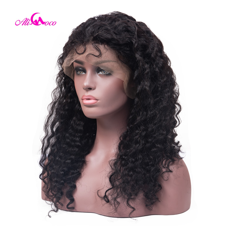 Ali Coco Brazilian Deep Wave Lace Front Wigs 150 Density 13x4 Lace Front Human Hair Wigs