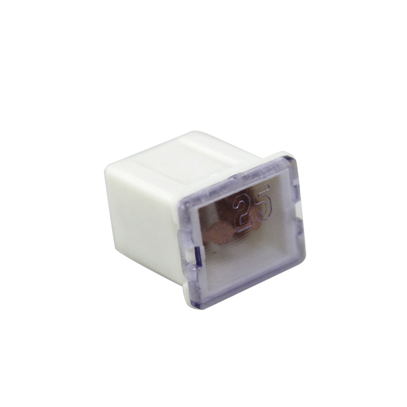 White 25a Amp 32v Female Plug In Blade Jcase Cartridge Low Profile Pal Fuse