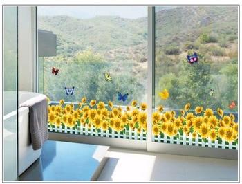 Cosmos Flores, vallas, calcomanías de basebboard, pegatinas decorativas para el hogar, adhesivos de paredes 3D, mural de arte para habitación diy 7210