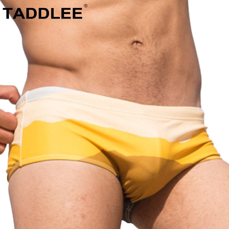 Taddlee бренд Плавание одежда Для мужчин Плавание костюмы пикантные Для Мужчинs Плавание трусы-боксеры Мужские шорты для купания бикини Гей пе...