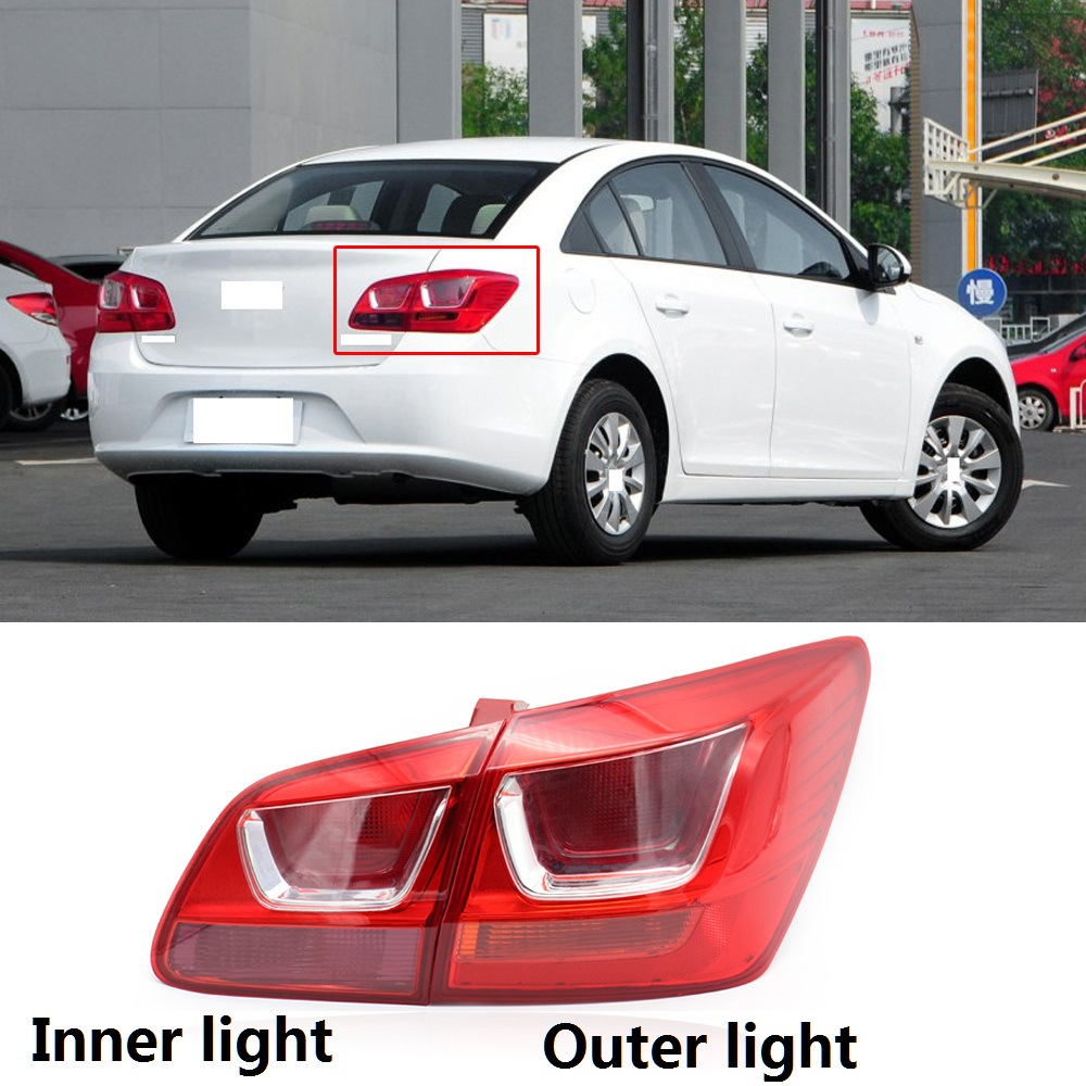 ABS Chrome Rear Tail Light Lamp Cover Trim For Chevrolet Malibu 2013-2015